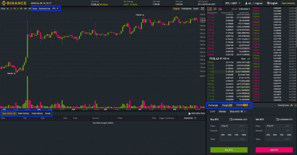 binance altcoin trading fee screenshot