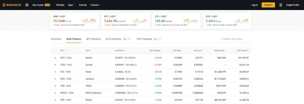 binance trading screenshot