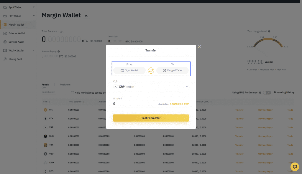 binance altcoin wallet screenshot