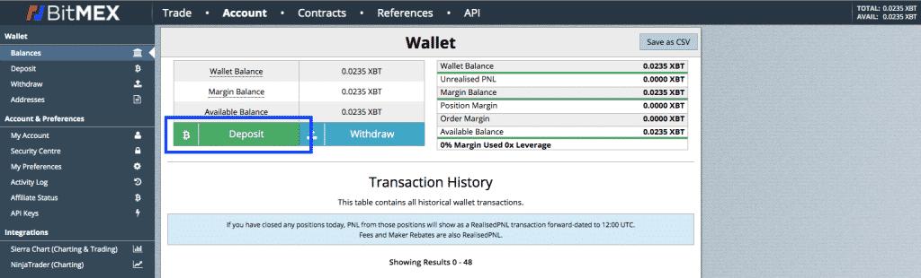 bitmex altcoin deposit screenshot
