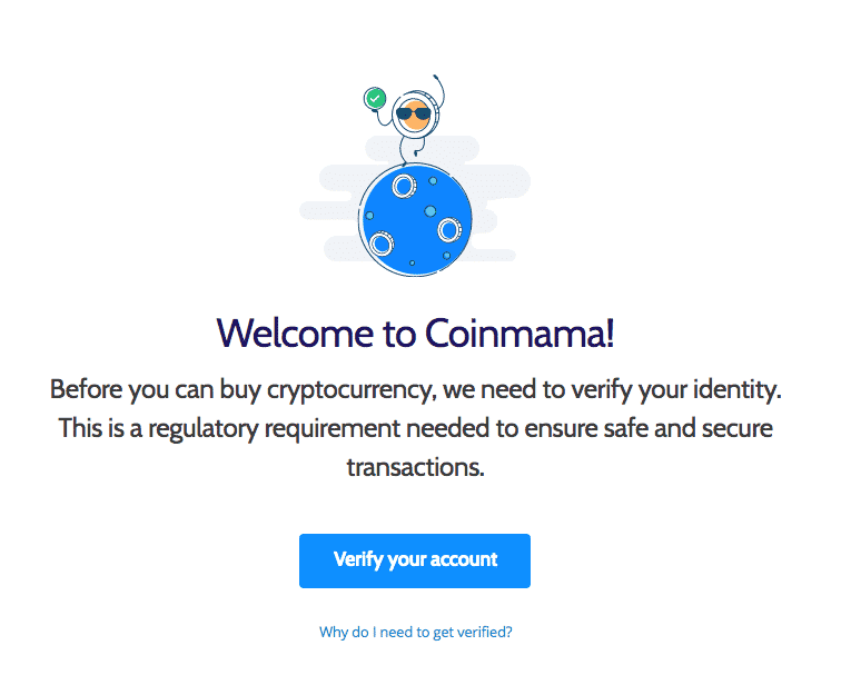 create an account page on coinmama