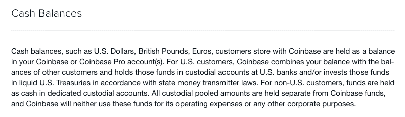 cash balance screenshot on coinbase