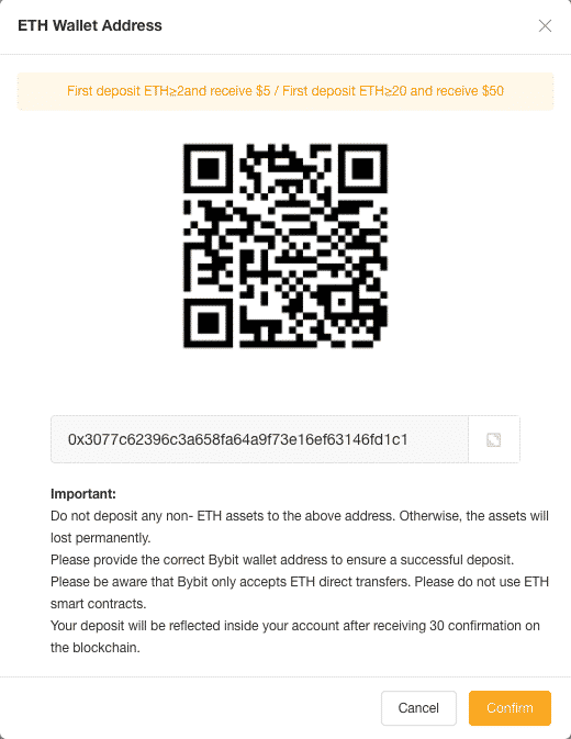 altcoin leverage wallet address bybit screenshot