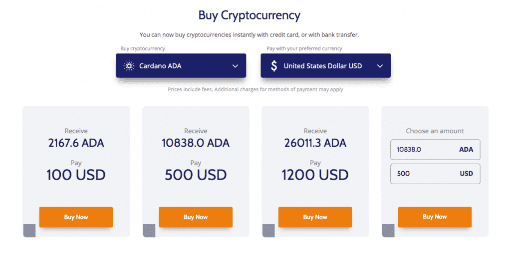buy altcoin section screenshot on coinmama