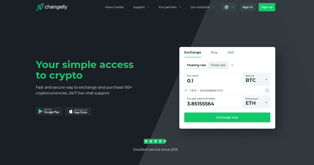 altcoin exchange review of changelly instant platform