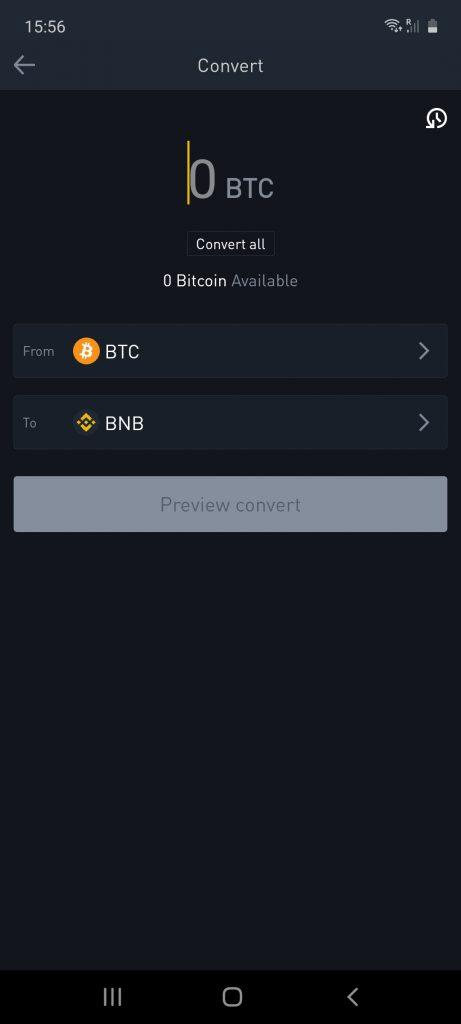 binance crypto app converter