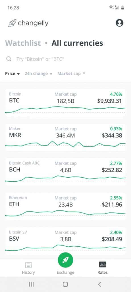 changelly app crypto list