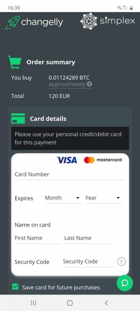 changelly app deposit methods