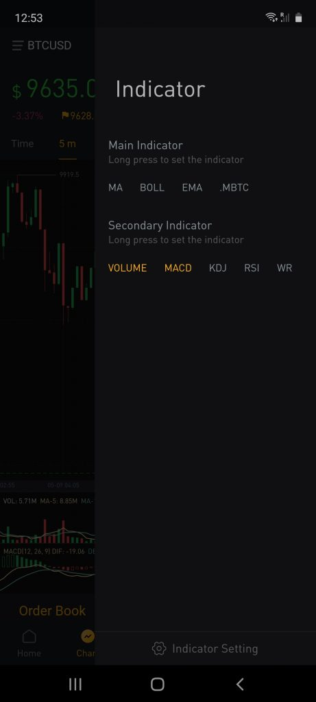 trading interface on bybit