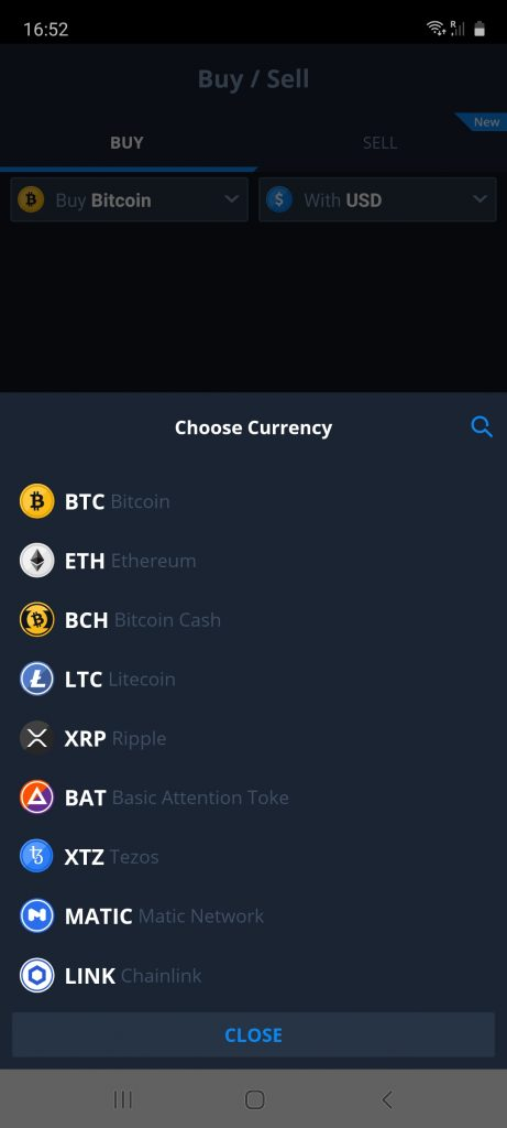 cryptocurrencies on cex.io app