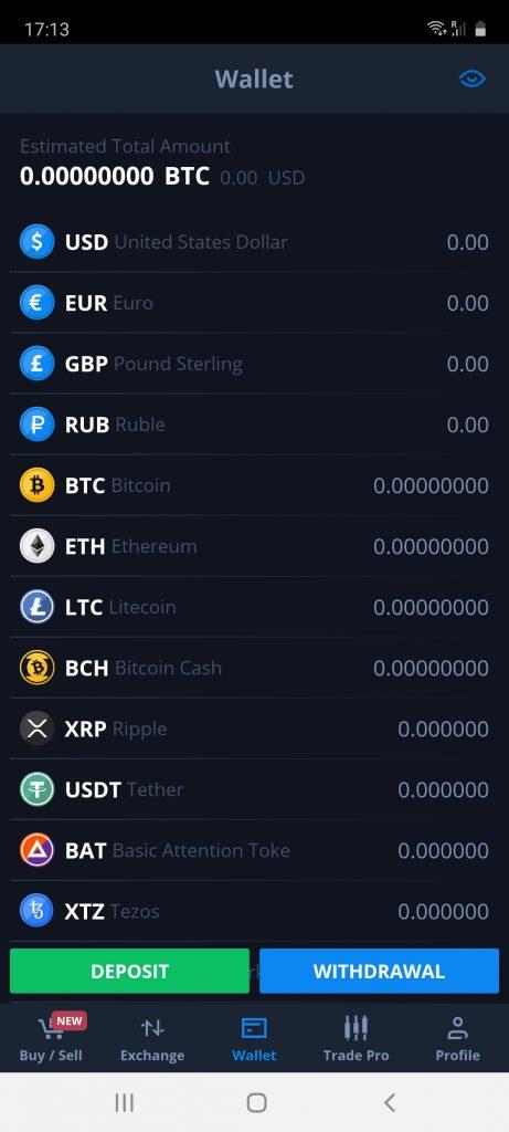 wallet on cex.io app