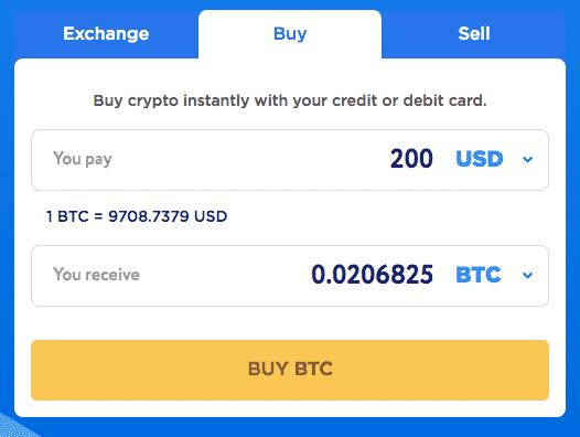 crypto echange without kyc change hero credit card option