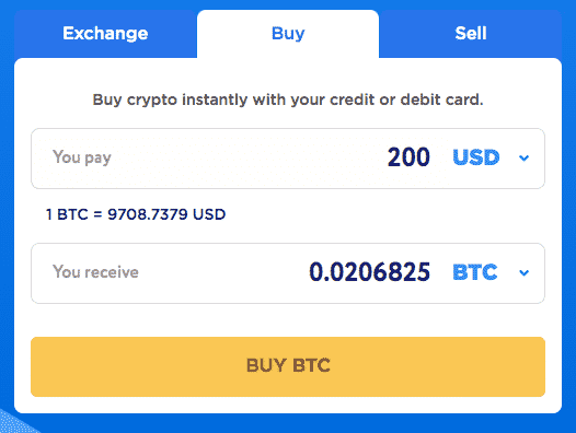 buy altcoins with credit card on changehero
