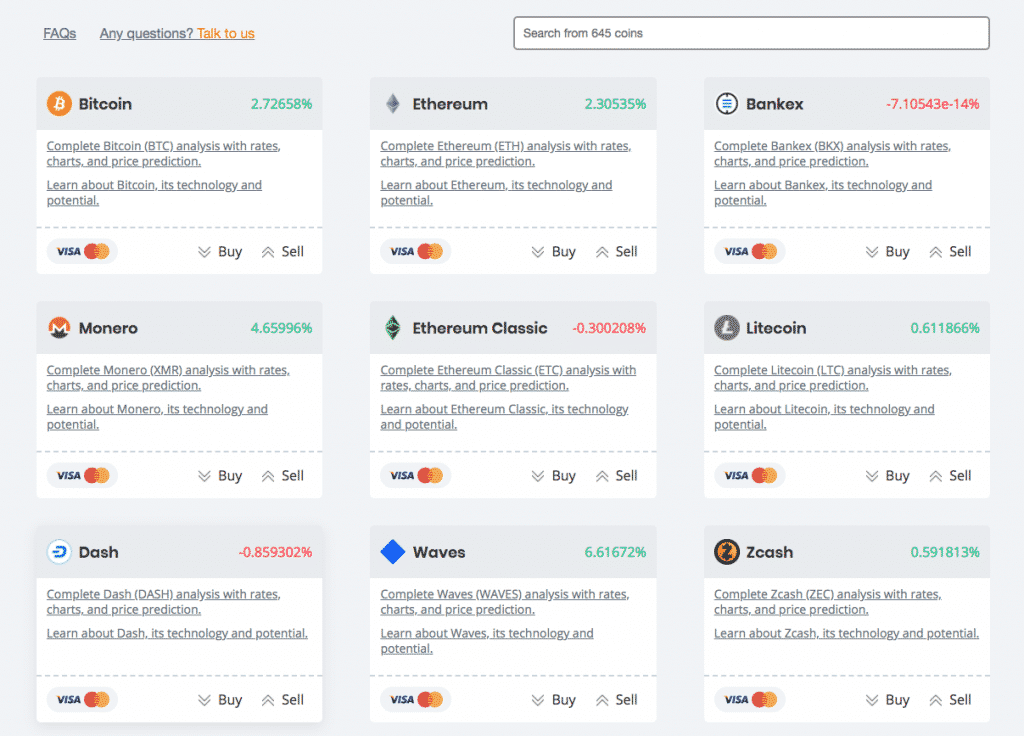 coinswitch cryptocurrency list