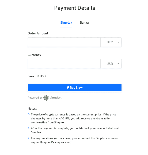 credit card option on kucoin crypto exchange without KYC