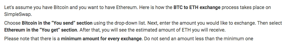 simpleswap crypto exchange explanation