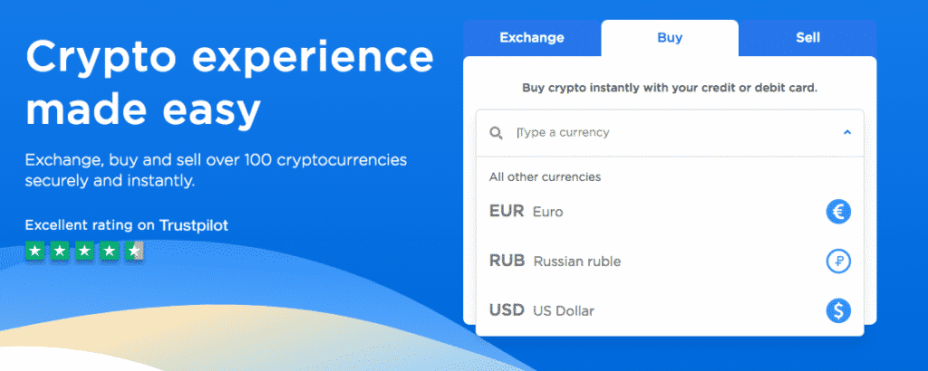 fiat currencies on changehero