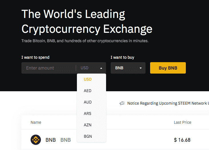 buy altcoins with usd on binance all coins