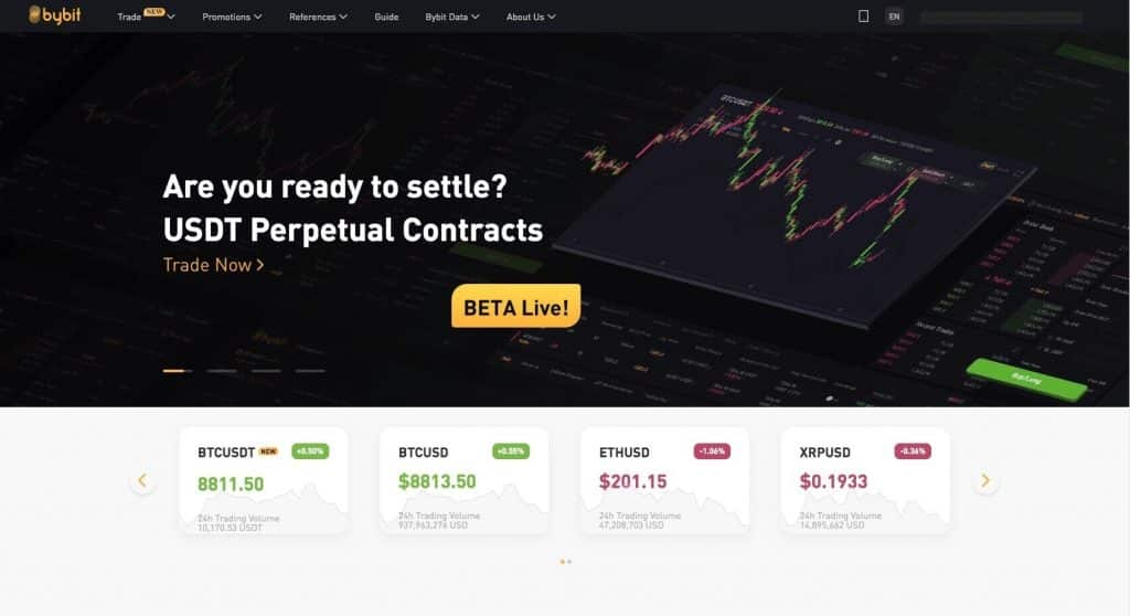 bybit exchange first page