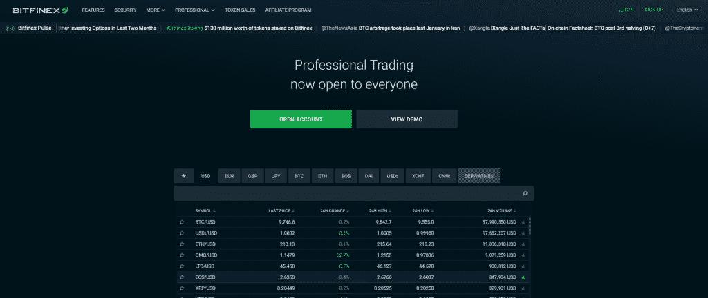 bitfinex best exchange to trade altcoins
