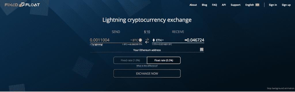 fixedfloat instant crypto exchange