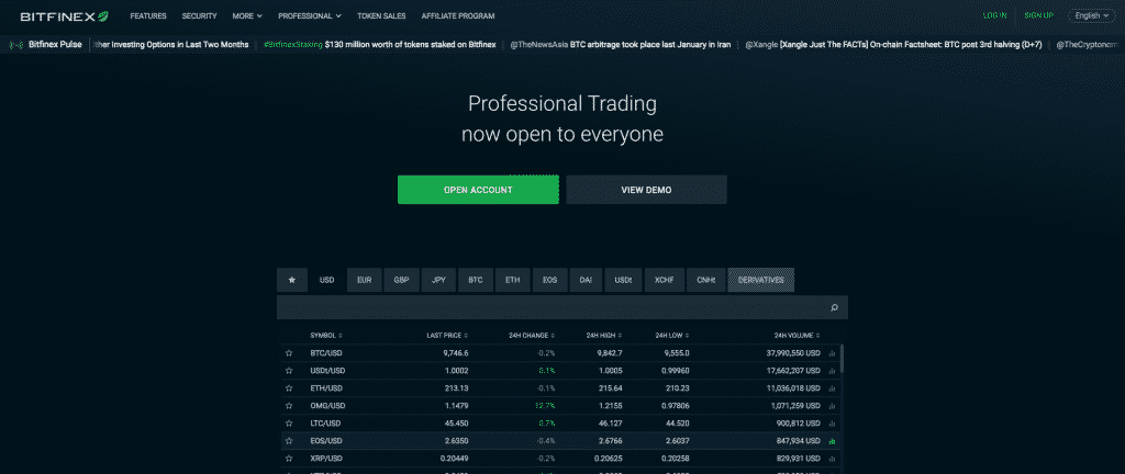 altcoin exchange review of bitfinex