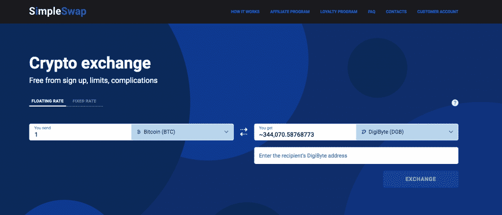 altcoin exchange review of simpleswap exchange function