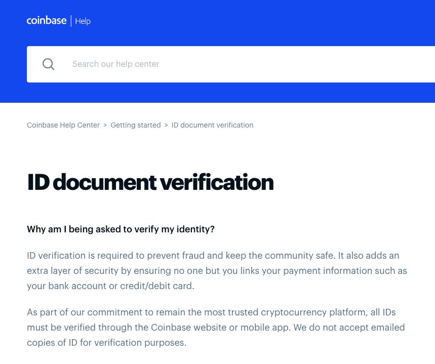 coinbase KYC security