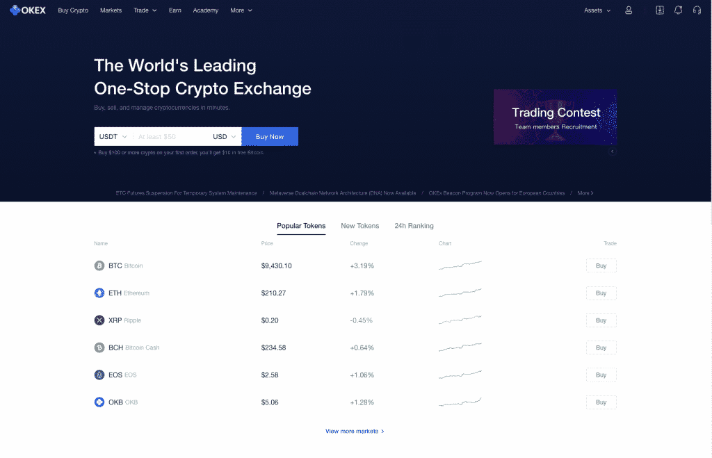 okex most secure cryptocurrency exchange
