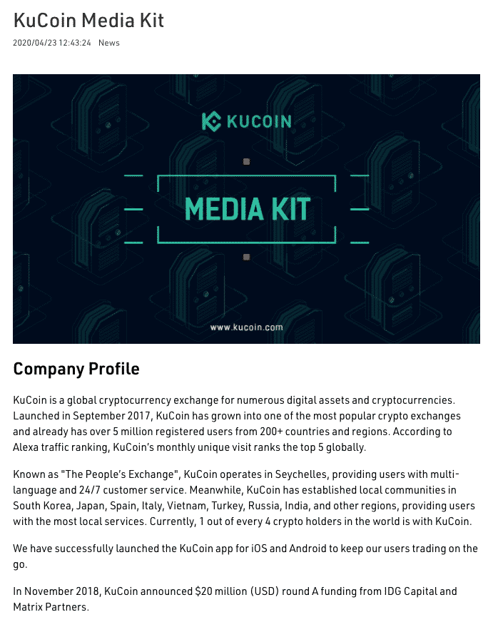 kucoin security page