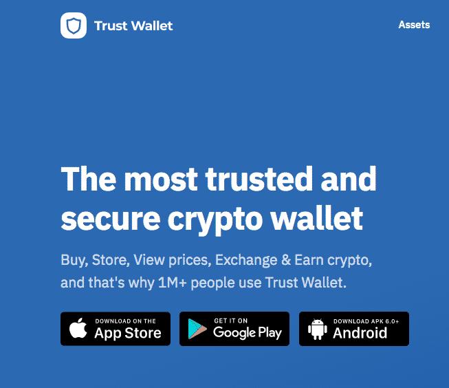 trust wallet on binance exchange