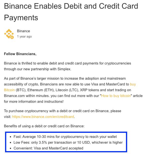 binance bitcoin broker fees