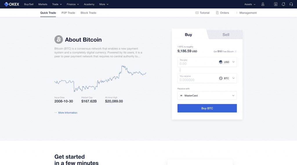 buy bitcoin on okex