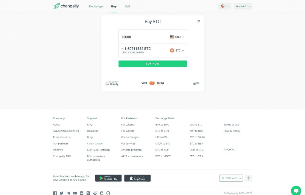 bitcoin broker changelly payment