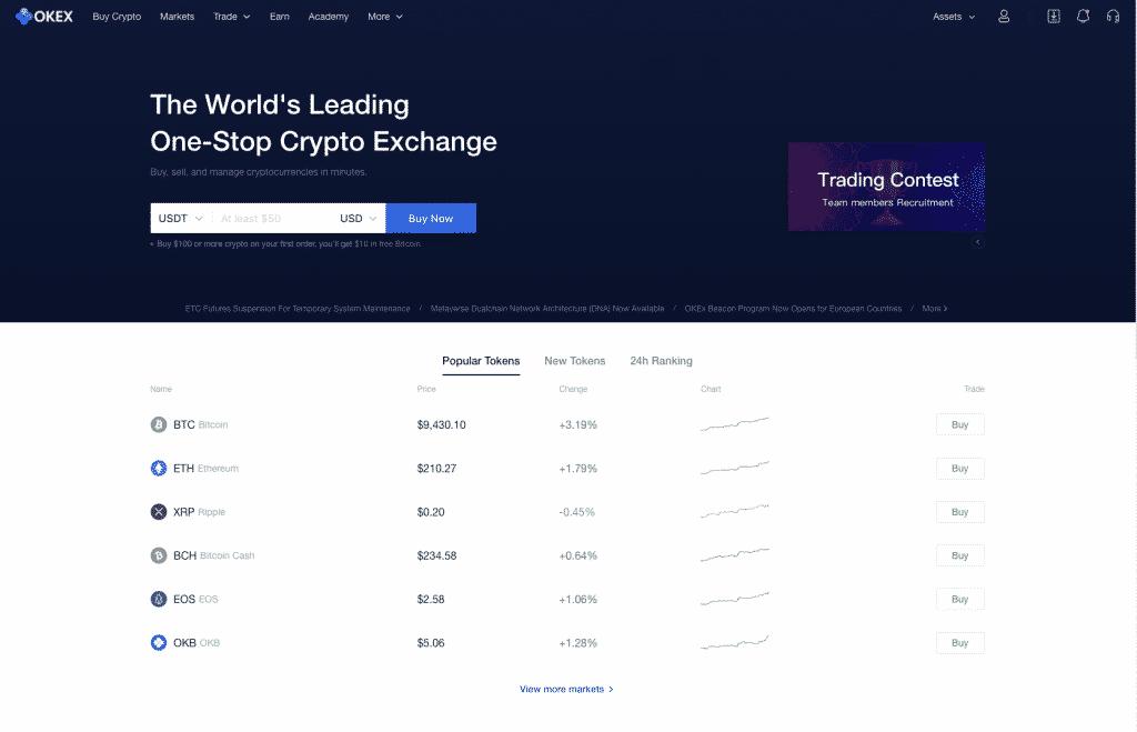 okex cryptocurrency broker
