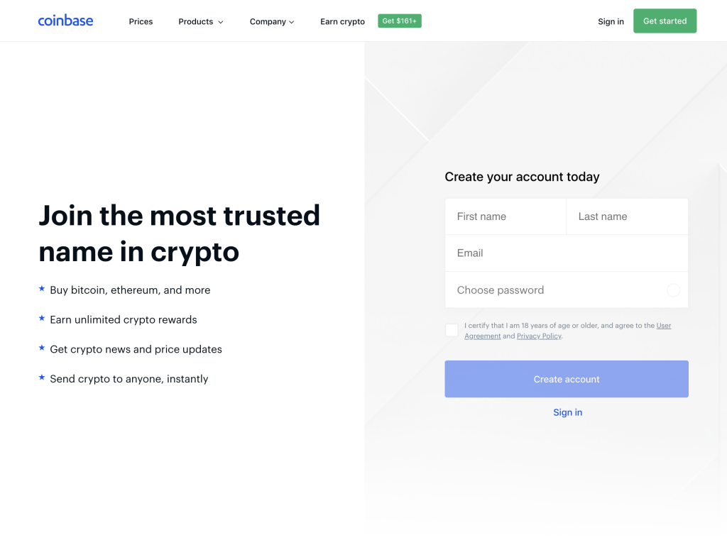 coinbase cryptocurrency exchange