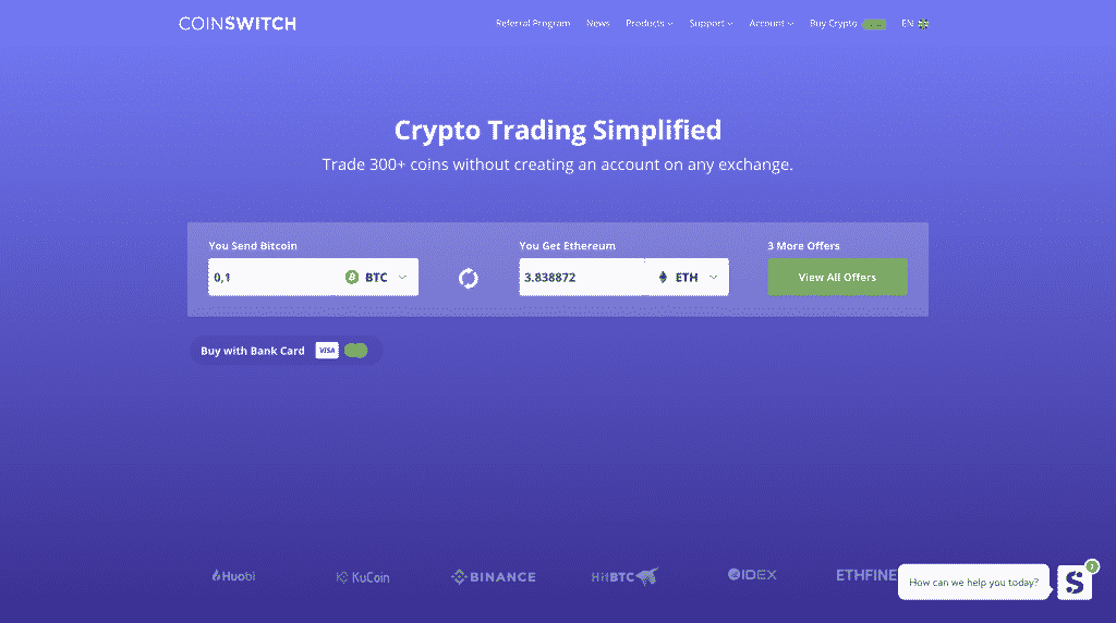 coinswitch altcoin exchange