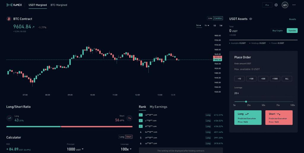 kucoin trade interface
