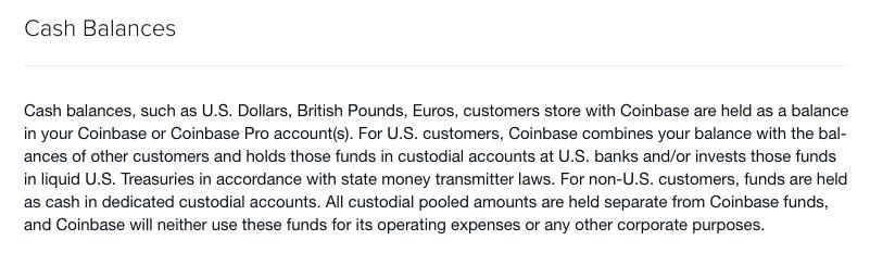 coinbase cash balances
