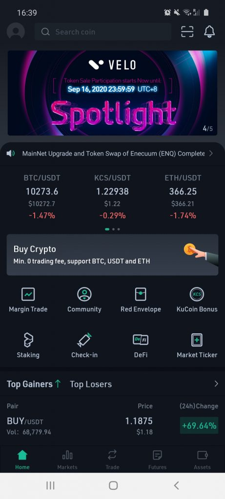 kucoin cryptocurrency investment app