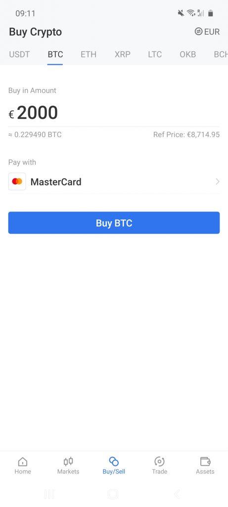 okex crypto investment app
