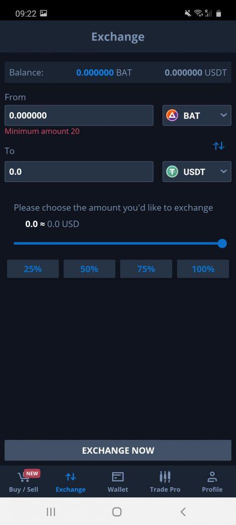 cex.io crypto app screenshot