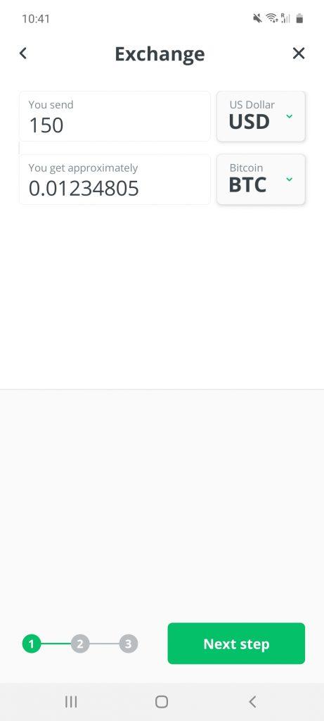 changelly investing app screenshot