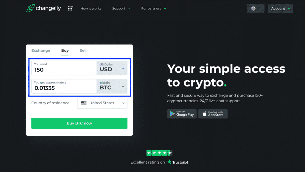 buy bitcoin easy on changelly