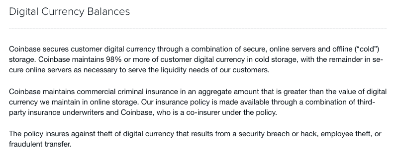 coinbase cold storage explained