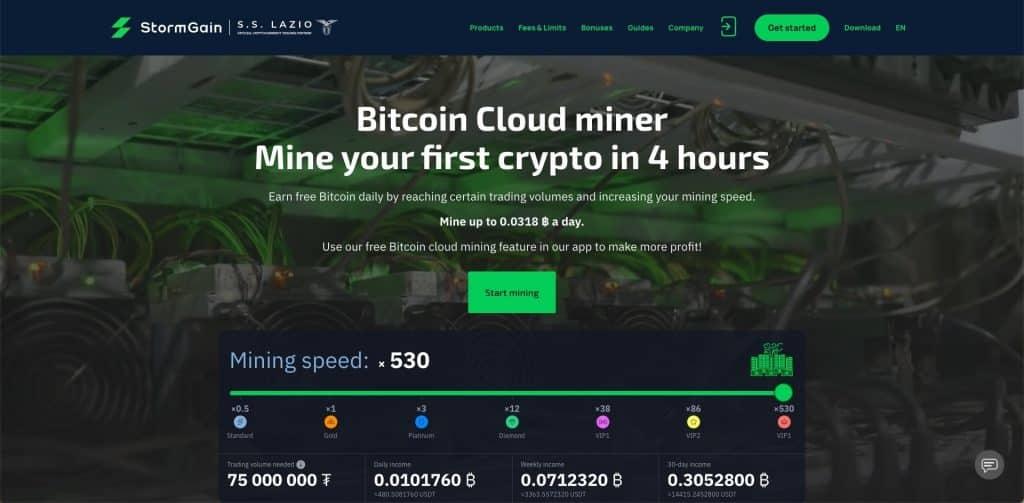 stormgain bitcoin cloud mining