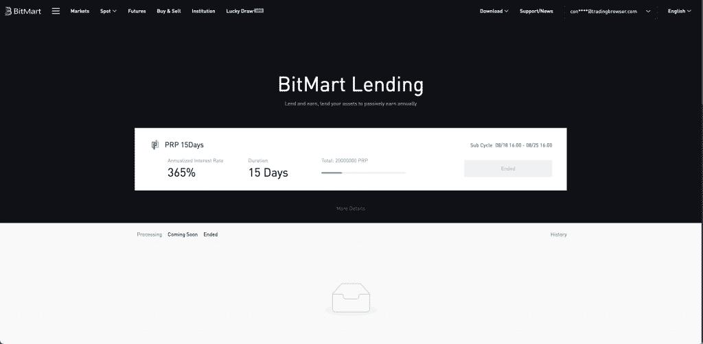 bitmart lending platform