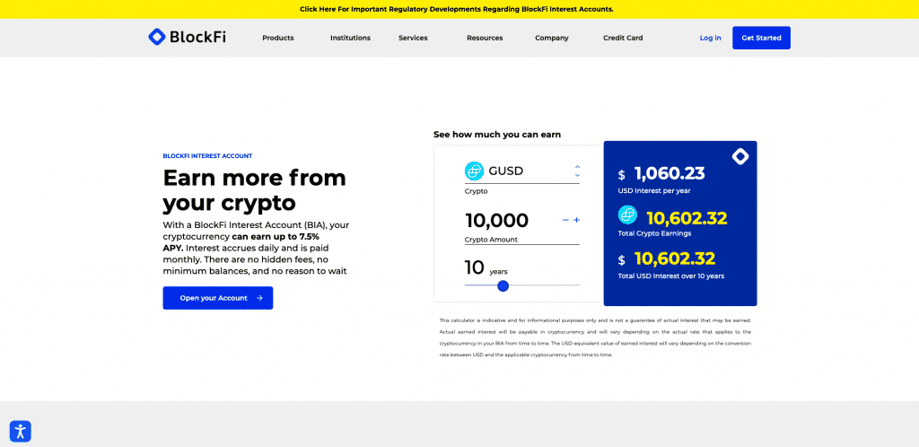 blockfi interest account