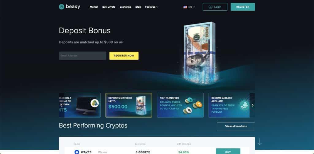 beaxt deposit bonus