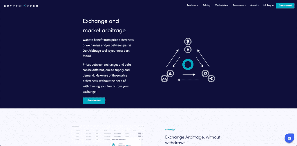cryptohopper arbitrage trade